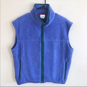 LL Bean Retro Vintage Fleece Vest Sz L